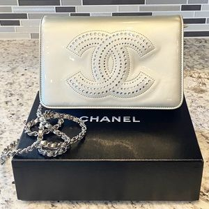 Chanel Strass Pattent Wallet On Chain